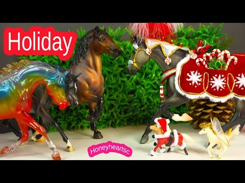 Christmas Show Breyer Horses Weather Girl Rainbow Series Holiday Party Video Honeyheartsc