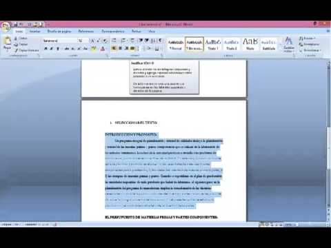 Tutorial como justificar texto en word 2007 youtube for En word cual es el interlineado