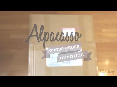 Rakuten Alpacasso Group Order Unboxing