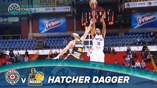 William Hatcher with the dagger right before the halftime