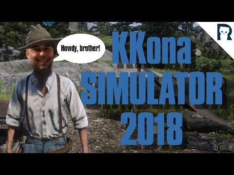 KKona Sim 2018 - Lirik Stream Highlights #96 // Red Dead Redemption 2