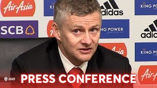 Leicester City 0-1 Manchester United Ole Gunnar Solskjaer Press Conference 'RASHFORD IMPROVING'