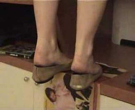 Sexy heelpopping feet shoeplay at council meeting - 2 part 10