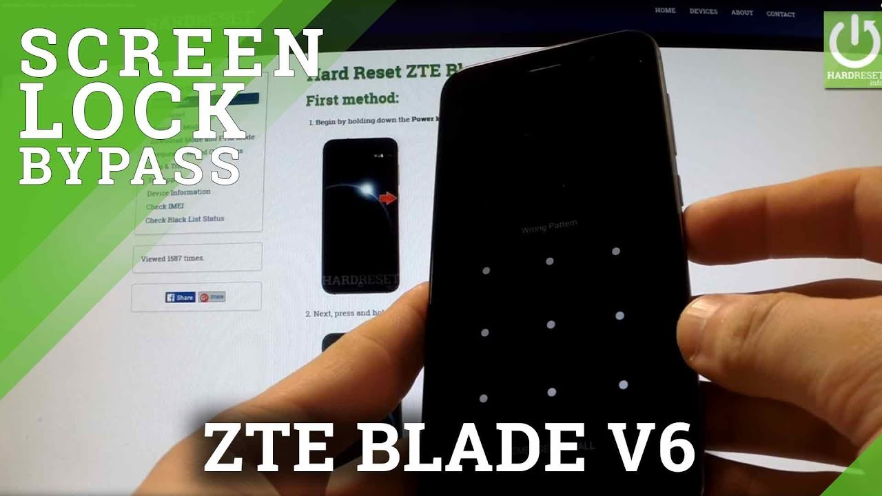 Hard Reset ZTE Blade V6 - bypass Pattern and Password by Recovery Mode