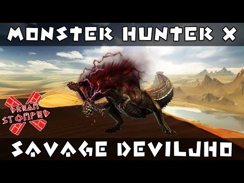 Monster Hunter X - Savage Deviljho Gameplay |