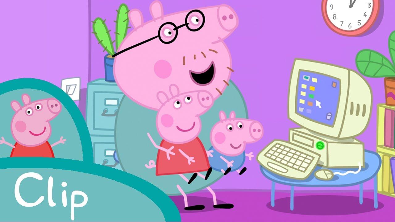 Peppa pig fran ais papa pig informaticien peppapigenfrancais youtube - Jeux de papa pig ...