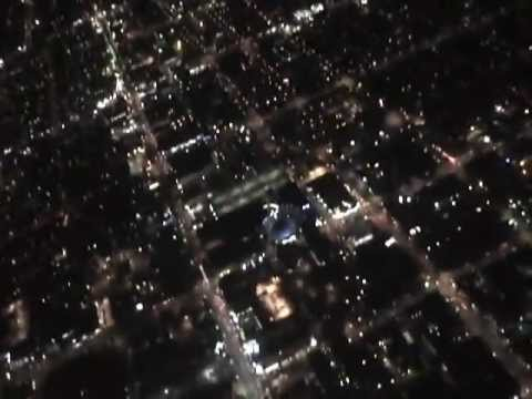 Flight over hollywood  Winds Santa Ana Turbulence