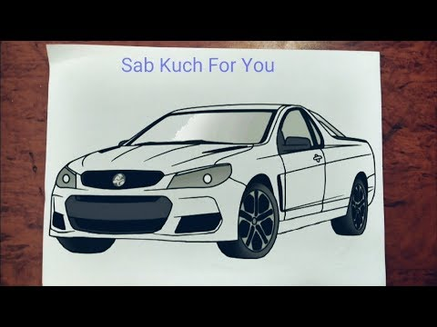 #7 How To Draw SUV (Car) |Holden Ute SS| Step By Step Easily 😊