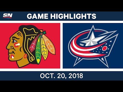 NHL Highlights | Blackhawks vs. Blue Jackets - Oct. 20, 2018