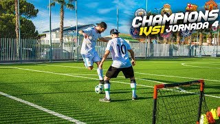 CHAMPIONS 1vs1 | JORNADA 4 | Retos de fútbol [Crazy Crew]