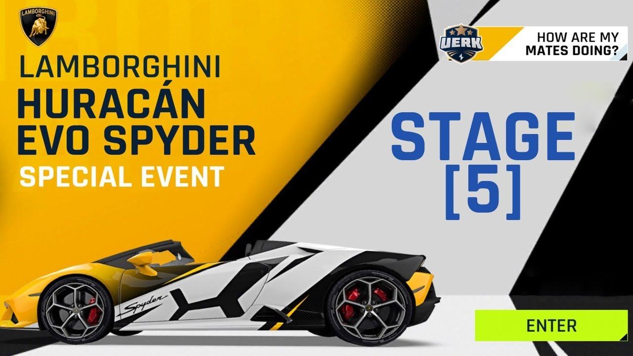 Asphalt 9 Lamborghini Huracan Evo Spyder Stage 5 Pharaoh S