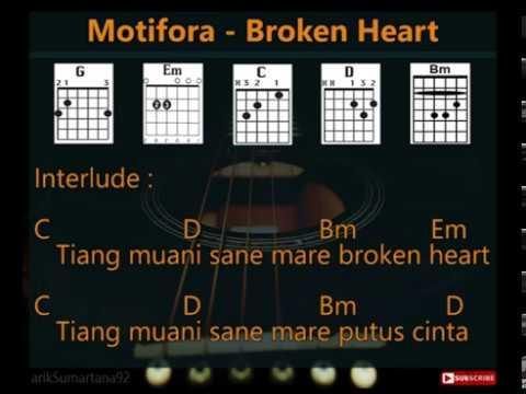 Motifora-Broken Heart [Lirik & Chord, Kunci Gitar]