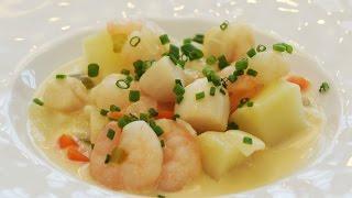 Shrimp And Scallop Miso Chowder Recipe