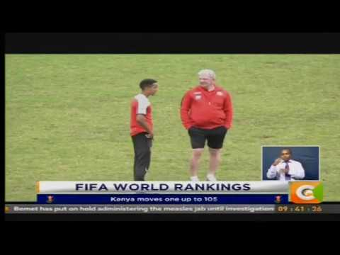 Kenya moves one up to position 105 in FIFA ranking