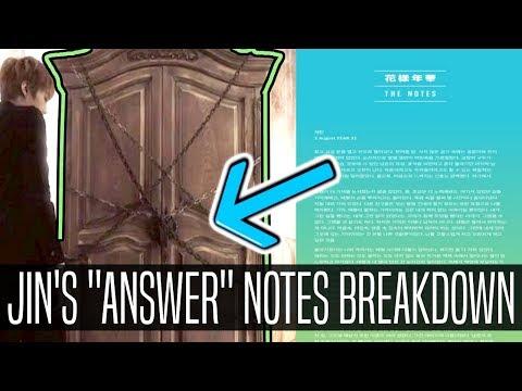 BTS | JIN'S NOTE BREAKDOWN & THEORIES