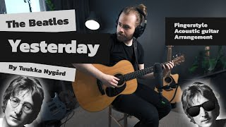 Yesterday - The Beatles - Chords & Melody - Fingerstyle Acoustic Guitar