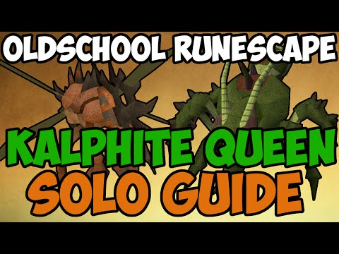 Oldschool Runescape - Kalphite Queen Solo Guide   2007 KQ Guide