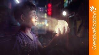 The moon - Speed art (#Photoshop) | CreativeStation