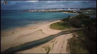 Alone on the golden beach with DJI Mavic, relaxing music , Japan, Okinawa, Itoman  2018