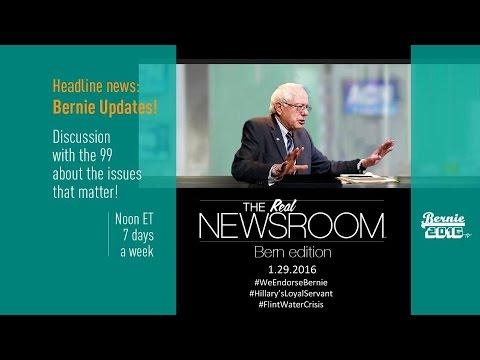 The Real News Room - Bernie Edition - 1.29.2016