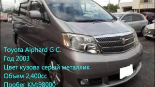Продажи подержанных автомобилей Toyota Alphard