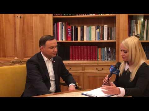 TYLKO U NAS prezydent Andrzej Duda mówi m. in. o znajomości języków obcych, o Pink Floyd i ...