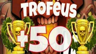 Clash of Clans - NOVO RECORDE !! COMO GANHAR 50 TROFÉUS COM APENAS UM ATAQUE !!!!