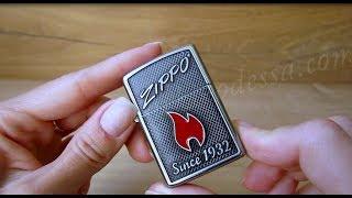 Зажигалка Zippo 29650 Zippo and Flame (Видео обзор) podarki-odessa.com