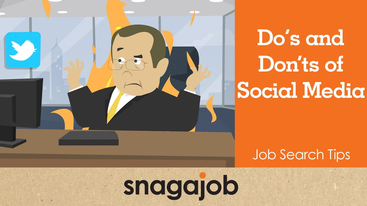 job search tips part do s and don ts of social media job search tips part 20 do s and don ts of social media