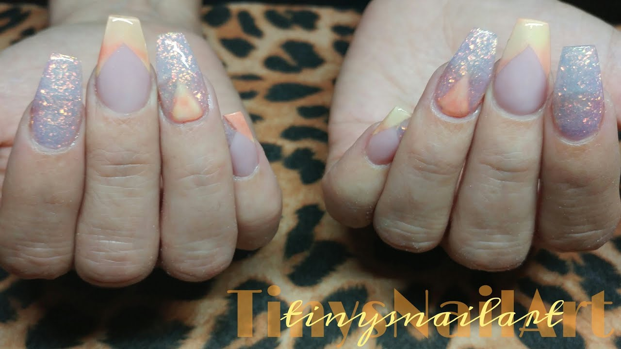 Thermal French Coffin Acrylic Nails - YouTube