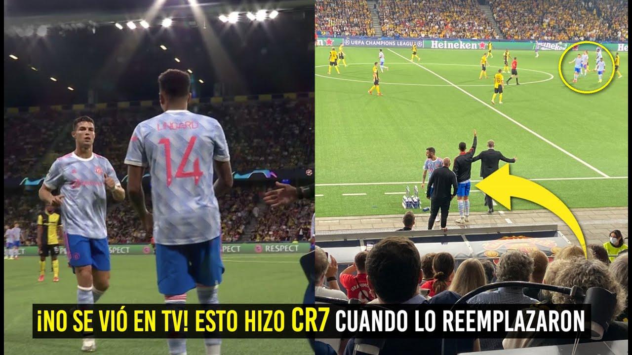 MIRA LO QUE HIZO CR7 CUANDO LO SACARON EN CHAMPIONS ¡NO LO MOSTRÓ LA TV!