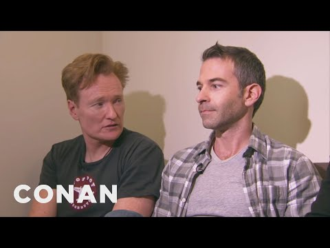 Conan Forces Jordan Schlansky To Clean His Filthy Office