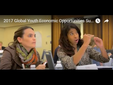 2017 Global Youth Economic Opportunities Summit Promo Video