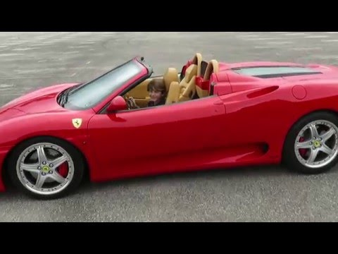 Incroyable 11 Year Old Kid Driving A Stick Shift Ferrari