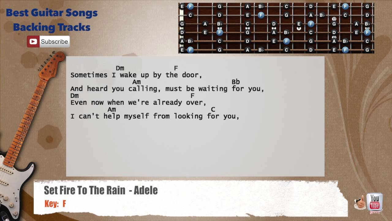 Set fire to the rain adele guitar backing track with scale set fire to the rain adele guitar backing track with scale chords and lyrics hexwebz Choice Image