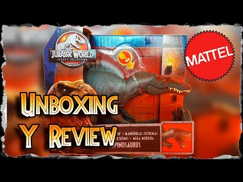 Unboxing y Review de Extreme Chompin´ Spinosaurus Legacy Collection de Mattel !!!!