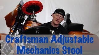 Craftsman Adjustable Rolling Swivel Mechinics Seat Stool Review & Information