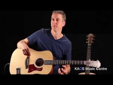 KAOS Gear Demo - Taylor 110e & 114e Acoustic Guitars