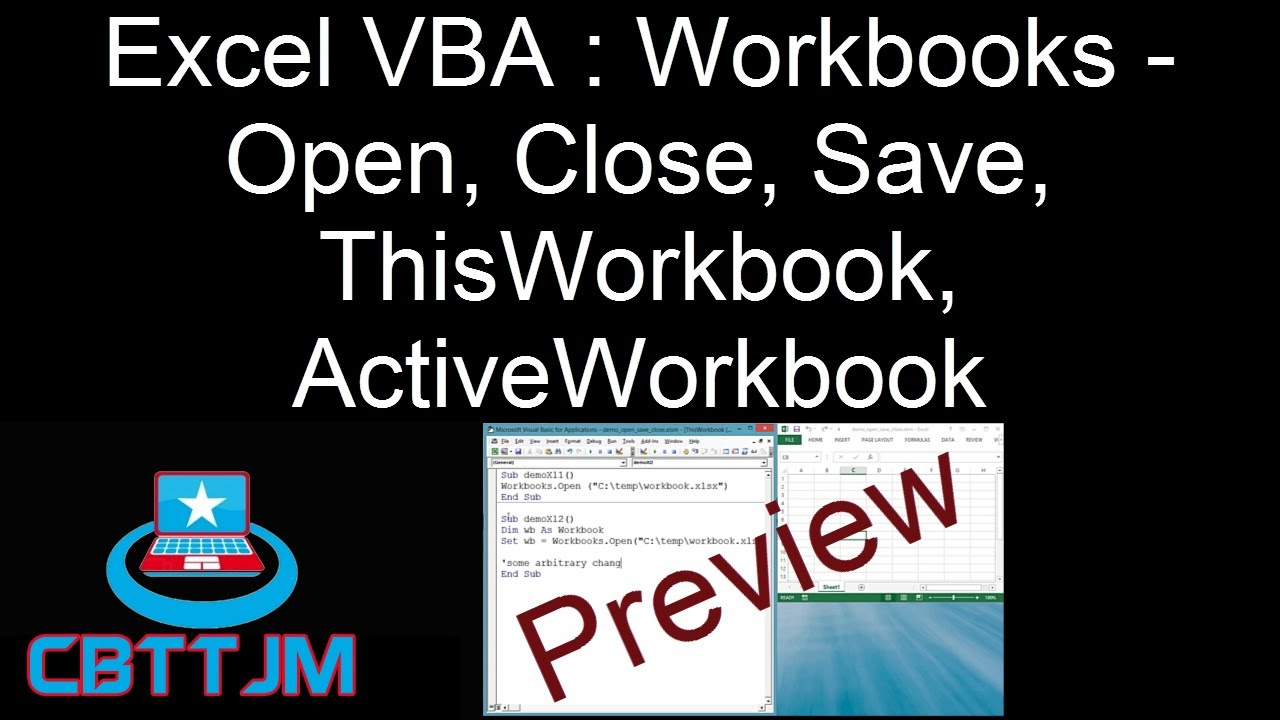 Comprehensive vba part 8 excel vba workbooks open close save comprehensive vba part 8 excel vba workbooks open close save thisworkbook activeworkbook youtube ibookread ePUb