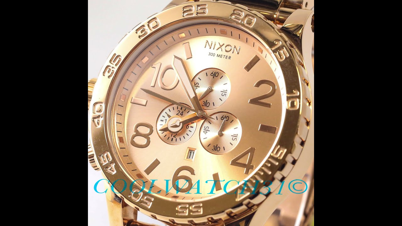 Coolwatch31 A083 897 Nixon 51 30 Chrono All Rose Gold Men