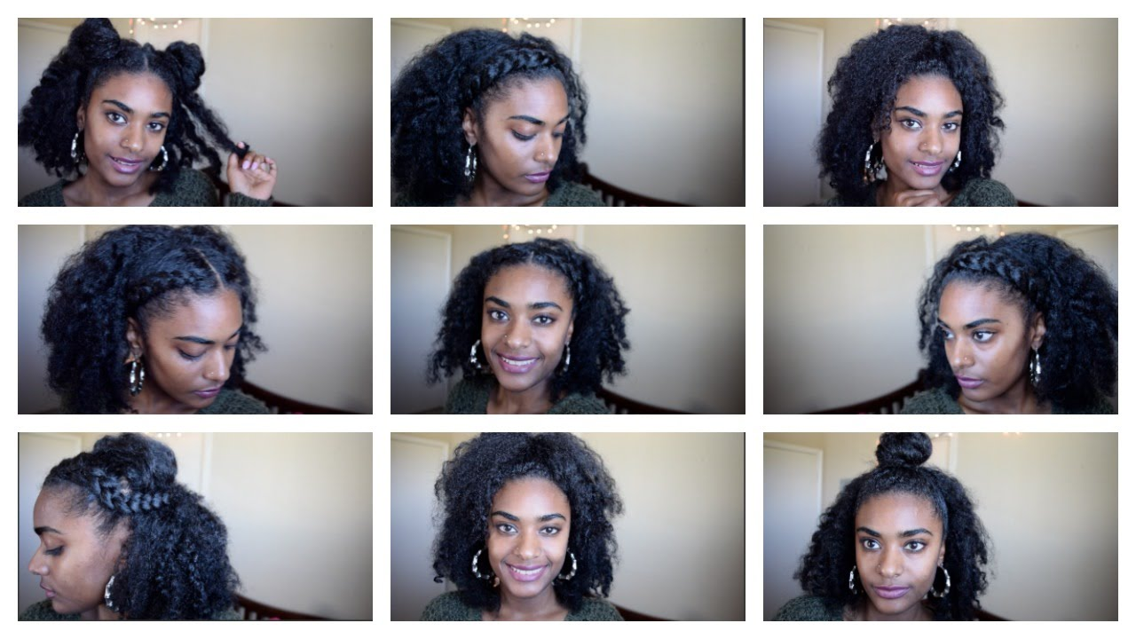 6 Ways To Wear Old Twist Out Braid Out Natural Hair Youtube