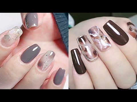 Easy Nails art design compilation 2021💅🏻เล็บเจลลายหินอ่อน,เพ้นลายต่าง
