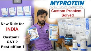 Myprotein Custom Problem solved for india, No pay to Post office