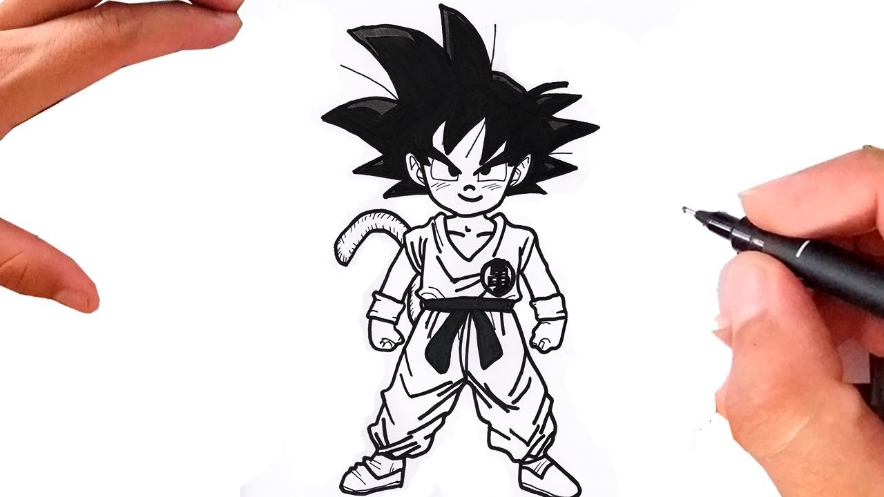 Como Desenhar O Goku Crianca De Dragon Ball Z Youtube