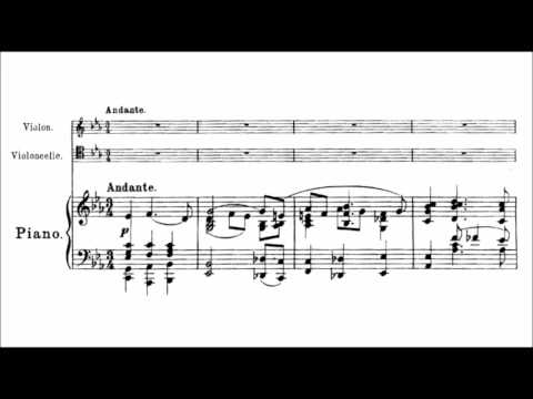 Alexander Krein - Elegy for piano trio Op. 16 (audio + sheet music)