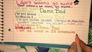 Bad Intentions – Niykee Heaton (Handwritten Lyric Video)