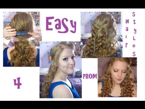 4 Easy Prom Hairstyles YouTube