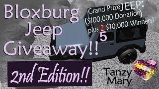 (CLOSED) Roblox: Bloxburg | 100K Jeep Giveaway 2nd Edition & Mocap Dancing