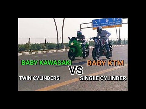 KAWASAKI NINJA 250R  VS KTM DUKE 200 |DRAG RACE||TOP END|A RACE LIKE NEVER BEFORE|MUST WATCH|