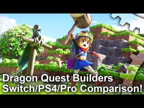 Dragon Quest Builders: Switch vs PS4/PS4 Pro Graphics Comparison + Frame-Rate Test